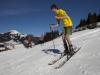 Skifahrer mit Frühlingsgefühle